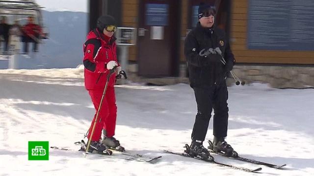 Путин и Лукашенко покатались на горных лыжах в Сочи.горные лыжи, Лукашенко, переговоры, Путин, Сочи, спорт.НТВ.Ru: новости, видео, программы телеканала НТВ
