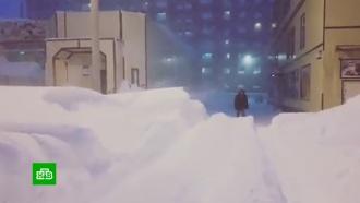 Мощные снегопады обрушились на Норильск