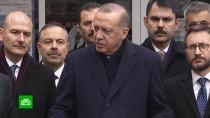 Эрдоган обвинил союзников по НАТО в поставках оружия террористам в Сирии.Североатлантический альянс поставляет оружие террористам, причем делает это абсолютно бесплатно. С таким обвинением в адрес НАТО выступил турецкий лидер Реджеп Эрдоган.НАТО, Сирия, Турция, Эрдоган, вооружение.НТВ.Ru: новости, видео, программы телеканала НТВ