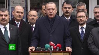 Эрдоган обвинил союзников по НАТО впоставках оружия террористам вСирии