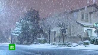 Редкое зрелище: <nobr>Лас-Вегас</nobr> накрыл мощный снегопад