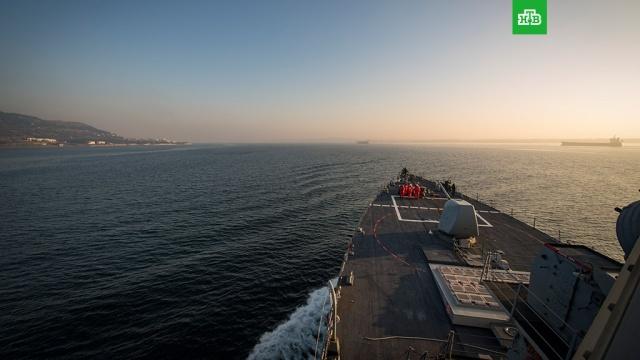 Американский эсминец второй раз с начала года вошел в Чёрное море.Эскадронный эсминец США «Дональд Кук» во второй раз с начала года направился в Чёрное море. Российские военные следят за действиями иностранного экипажа.корабли и суда, США, Чёрное море.НТВ.Ru: новости, видео, программы телеканала НТВ