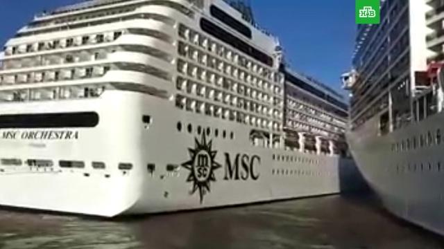 Впорту Буэнос-Айреса столкнулись два круизных лайнера.Аргентина, корабли и суда, порты, кораблекрушения.НТВ.Ru: новости, видео, программы телеканала НТВ