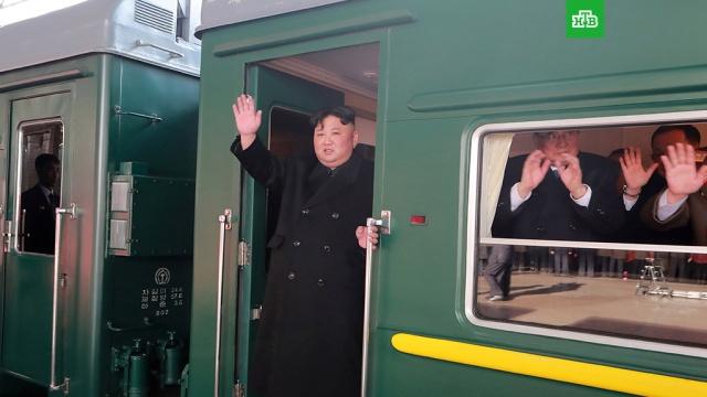 Ким Чен Ын поехал на переговоры с Трампом на бронепоезде.Лидер КНДР Ким Чен Ын поездом отбыл из Пхеньяна в Ханой на переговоры с американским президентом Дональдом Трампом..Вьетнам, Ким Чен Ын, США, Трамп Дональд.НТВ.Ru: новости, видео, программы телеканала НТВ
