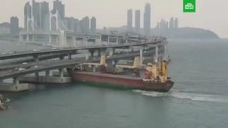 Капитан напился после ЧП: экипаж российского судна рассказал о столкновении с мостом