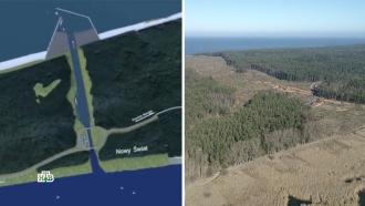 Экологи бьют тревогу из-за строительства польского канала через Балтийскую косу