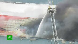 Вангаре летной школы канадского Каледона загорелся самолет