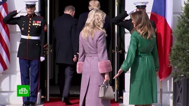 Трамп «забыл» жену на пороге Белого дома.Трамп Дональд, Трамп Меланья.НТВ.Ru: новости, видео, программы телеканала НТВ