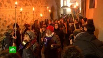 Испанки встретили 8 Марта митингом с кастрюлями и сковородками