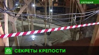 В Петропавловской крепости под кирпичным бастионом раскопали более древний деревянный