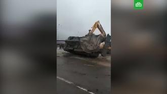 Артиллерийская установка опрокинулась на дороге вИнгушетии
