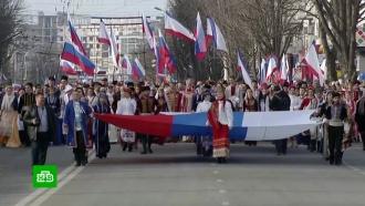 Крым начал праздновать пятую годовщину воссоединения с Россией