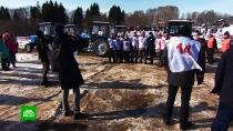 В Удмуртии устроили турнир по тракторному биатлону