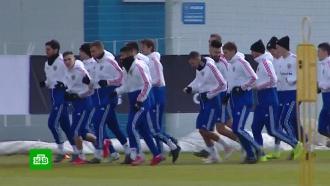 Российская футбольная сборная готовится кматчу квалификации ЧЕ