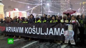 В Сербии оппозиция впервые встретила протест сторонников Вучича