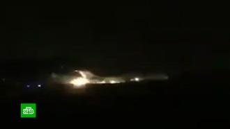 При посадке горящего самолета вТегеране никто не пострадал