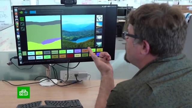 NVIDIA представила нейросеть, превращающую каракули в уникальные рисунки.гаджеты, живопись и художники, изобретения, искусство, технологии.НТВ.Ru: новости, видео, программы телеканала НТВ