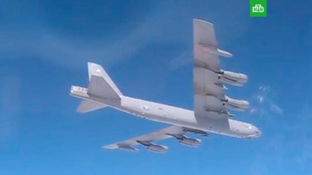 Российские Су-27 заставили бомбардировщик США изменить курс над Балтикой.Балтика, США, авиация.НТВ.Ru: новости, видео, программы телеканала НТВ