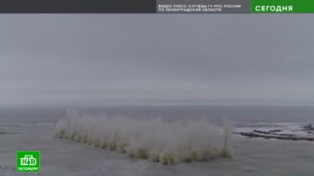 Реки Ленобласти начали освобождать ото льда.Ленинградская область, МЧС, реки и озера.НТВ.Ru: новости, видео, программы телеканала НТВ