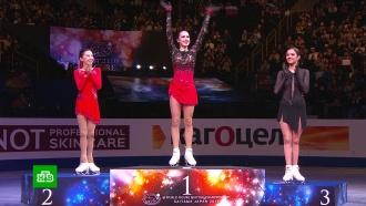 Загитова выиграла чемпионат мира, Медведева— третья