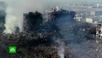 Последствия сотрясшего Китай взрыва: аэросъемка