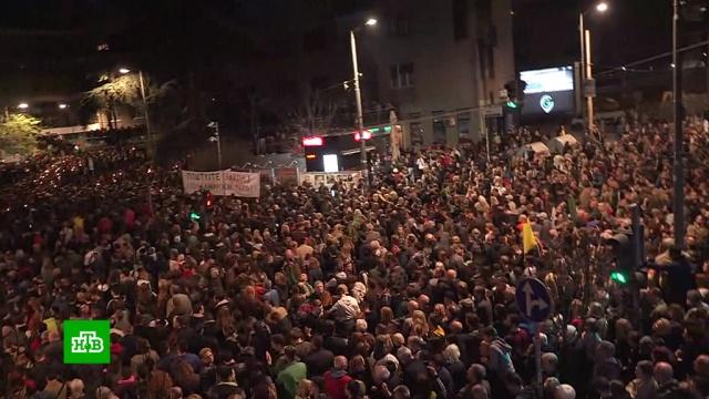 Митингующие вБелграде потребовали отставки президента.Косово, НАТО, Сербия, история, памятные даты.НТВ.Ru: новости, видео, программы телеканала НТВ