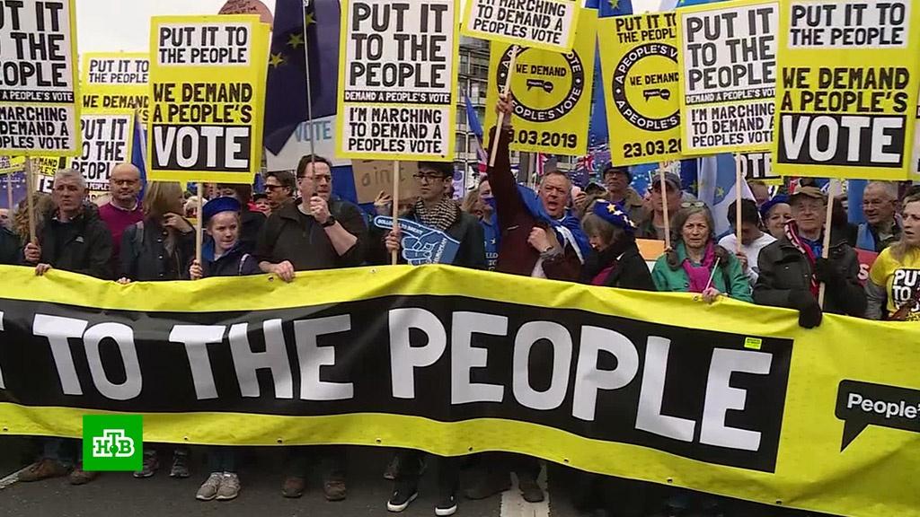 Brexit стал проблемой: почему британцы запаслись туалетной бумагой и вышли на марш.Великобритания, Европейский союз, демонстрации, митинги и протесты.НТВ.Ru: новости, видео, программы телеканала НТВ