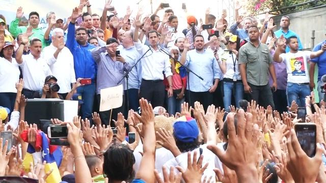Гуайдо призвал венесуэльцев к свержению Мадуро.Лидер венесуэльской оппозиции рассказал сторонникам, как будет захвачена власть Венесуэле.Венесуэла, США.НТВ.Ru: новости, видео, программы телеканала НТВ