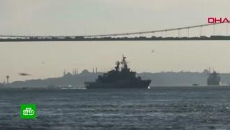 Появилось видео захода кораблей НАТО в Черное море