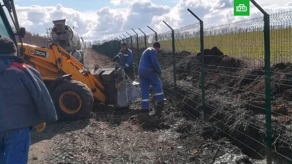 Украина копает рвы на границе с Россией.граница, Украина.НТВ.Ru: новости, видео, программы телеканала НТВ