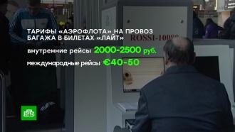 В«Аэрофлоте» назвали стоимость провоза багажа вбезбагажном тарифе