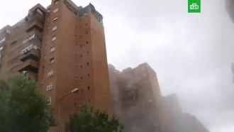 ВМадриде взрывом газа снесло верхний этаж дома