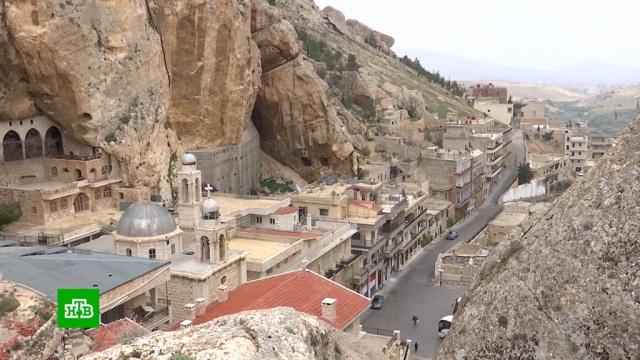 Российская делегация впервые после войны посетила священный сирийский город.Сирия, религия, христианство.НТВ.Ru: новости, видео, программы телеканала НТВ