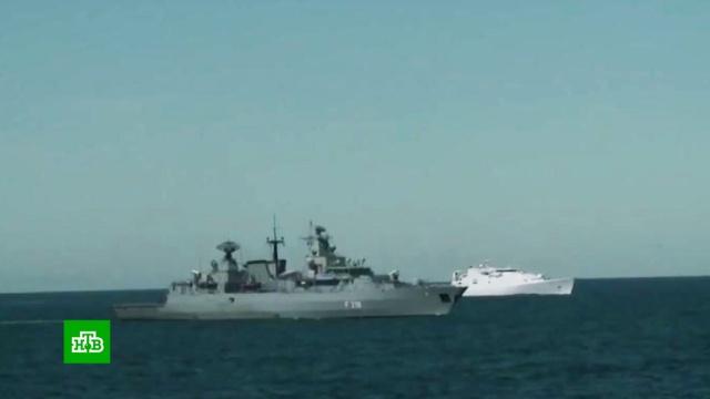 Российские боевые корабли наблюдают за учениями НАТО в Чёрном море.армия и флот РФ, корабли и суда, НАТО, Чёрное море.НТВ.Ru: новости, видео, программы телеканала НТВ