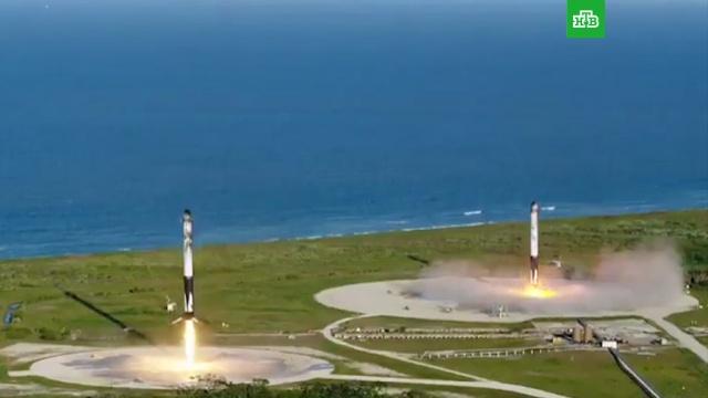 SpaceX провела первый коммерческий запуск ракеты Falcon Heavy.Илон Маск, запуски ракет, космос, ракеты.НТВ.Ru: новости, видео, программы телеканала НТВ