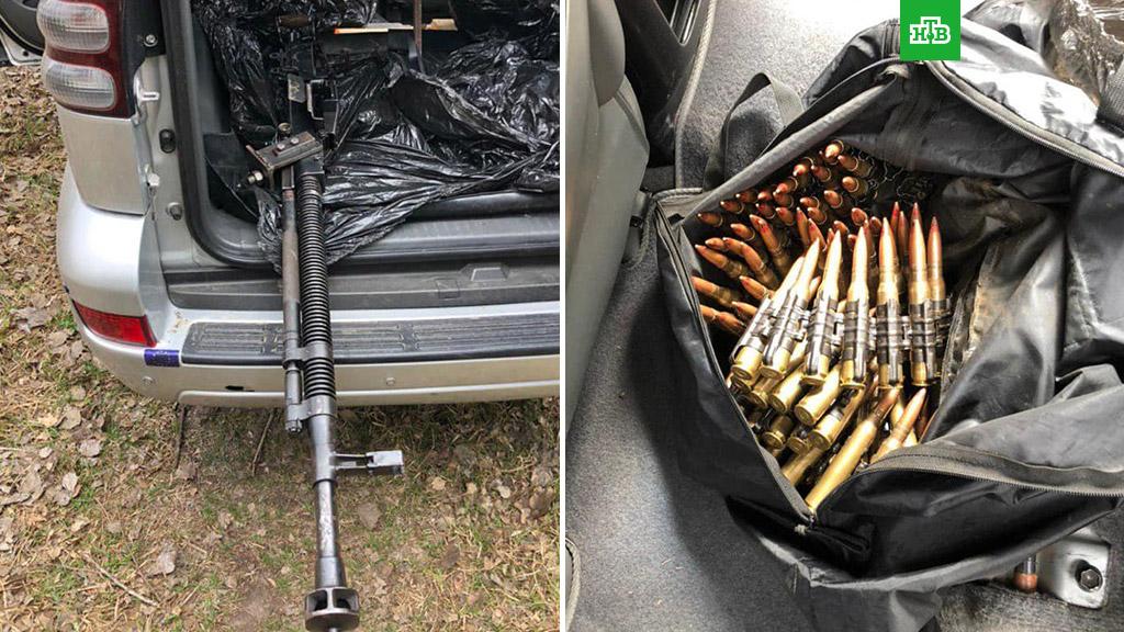 У дома Зеленского поймали бандитов с пулеметом на тачанке