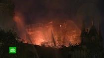 Огонь на фото охранников <nobr>Нотр-Дам-де-Пари</nobr> поможет определить причину пожара