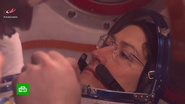 Кристина Кук станет рекордсменкой по длительности пребывания в космосе.МКС, космонавтика, космос, рекорды.НТВ.Ru: новости, видео, программы телеканала НТВ