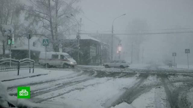 ВСибирь вернулась зима.ДТП, Новосибирск, Сибирь, Томск, погода, погодные аномалии, снег.НТВ.Ru: новости, видео, программы телеканала НТВ