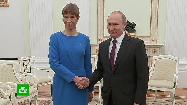 Президент Эстонии заявила оновом дыхании вотношениях сРоссией.Путин, Эстония, переговоры.НТВ.Ru: новости, видео, программы телеканала НТВ