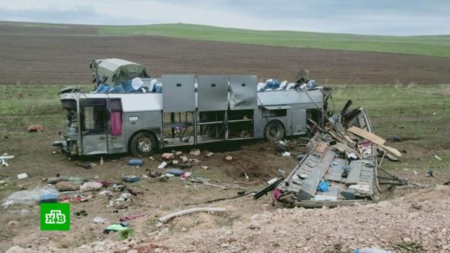 Автобус с пассажирами перевернулся в Казахстане: 11 погибших.ДТП, Казахстан, автобусы.НТВ.Ru: новости, видео, программы телеканала НТВ