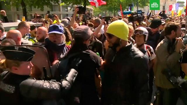 «Желтые жилеты» устроили беспорядки на акции в Париже: более 120 задержанных.беспорядки, Париж, Франция.НТВ.Ru: новости, видео, программы телеканала НТВ