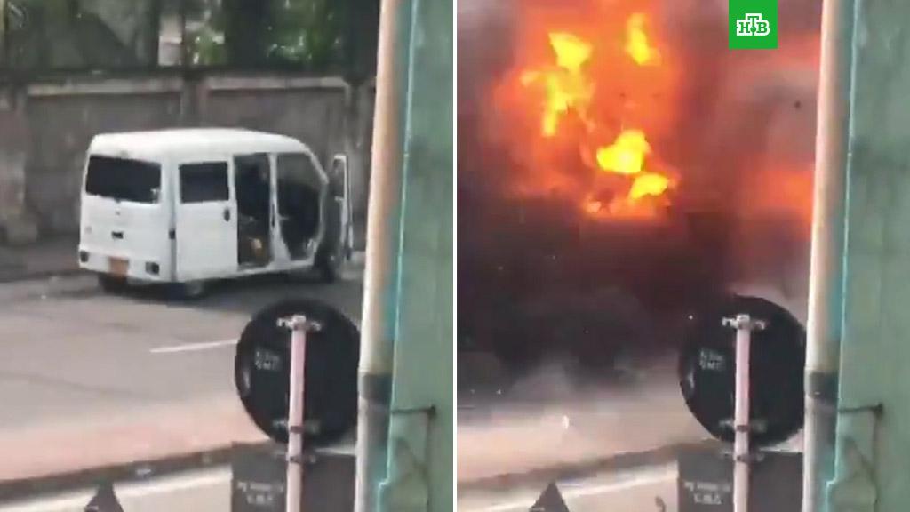 Новый взрыв прогремел возле церкви на острове Шри-Ланка