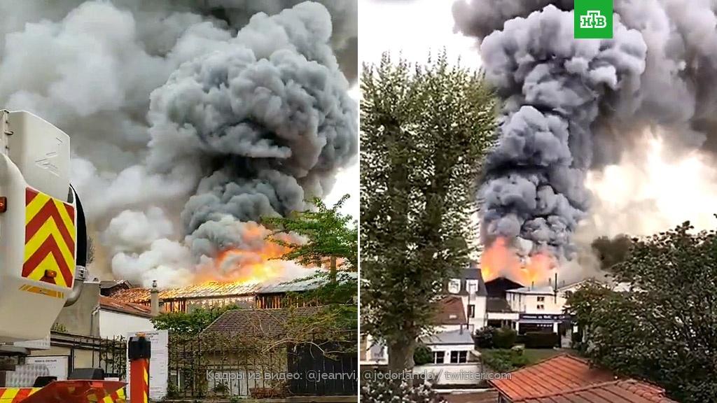 Во Франции вспыхнули гаражи Версаля.Франция, пожары.НТВ.Ru: новости, видео, программы телеканала НТВ