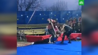 Удав задушил циркача на глазах удетей