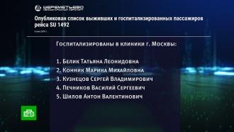 Список выживших в катастрофе SSJ-100