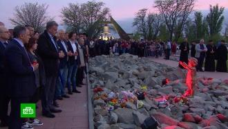 Под Симферополем почтили память убитых вфашистском концлагере