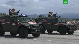Парад Победы прошел на российской базе Хмеймим вСирии