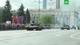 ВДонецке иЛуганске прошли парады вчесть Дня Победы