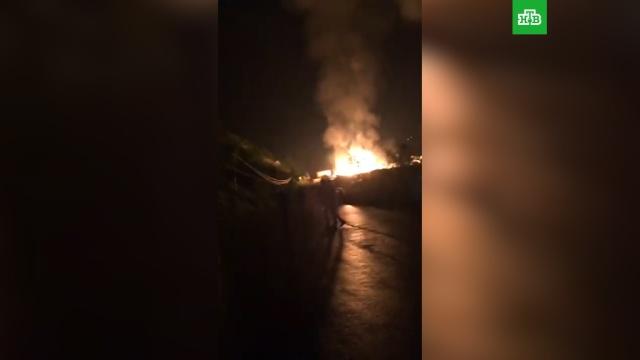 На заправке в Чечне взорвалась цистерна с газом.АЗС, МЧС, Чечня, взрывы газа.НТВ.Ru: новости, видео, программы телеканала НТВ